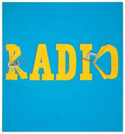 Ed Ruscha, Hurting the Word Radio #2 (1964), via Christie's