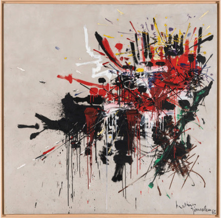 Georges Mathieu, La bataille de Gilboa (1962) via Nahmad Contemporary