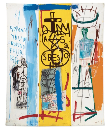 Jean-Michel Basquiat, Four Big (1982), via Christie's