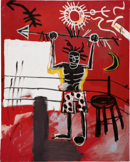Jean-Michel Basquiat, The Ring (1981), via Phillips