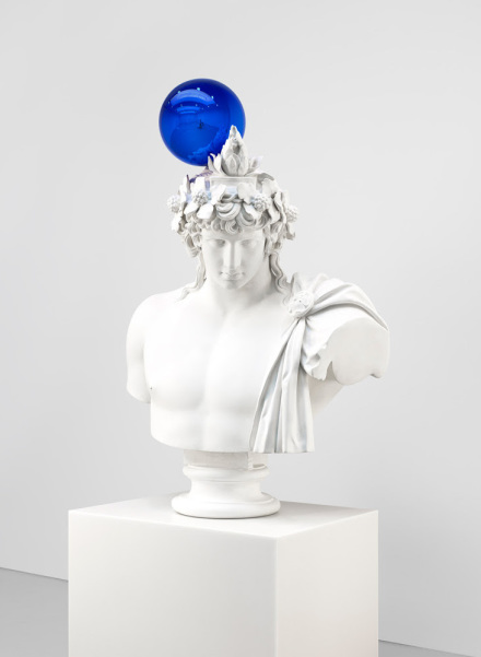 Jeff Koons, Gazing Ball (Antinous-Dionysus) (2013), via David Zwirner