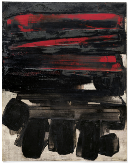 Pierre Soulages, Peinture 146 x 114 cm, 6 mars 1960 (1960), final price ££5,484,000, via Christie's