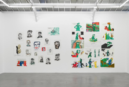 Raymond Pettibon, Frenchette (Installation View), via David Zwirner