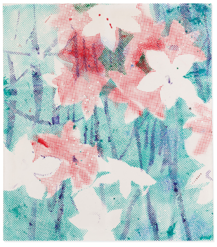 Sigmar Polke, Alpenveilchen Flowers (19767), final price £5,654,250, via Christie's