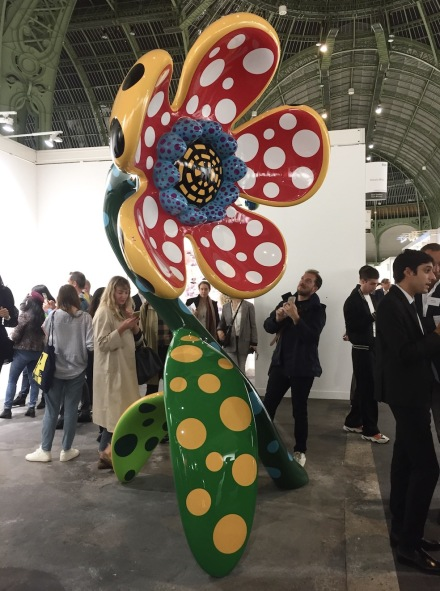 Yayoi Kusama at Victoria Miro, via Andrea Nguyen for Art Observed