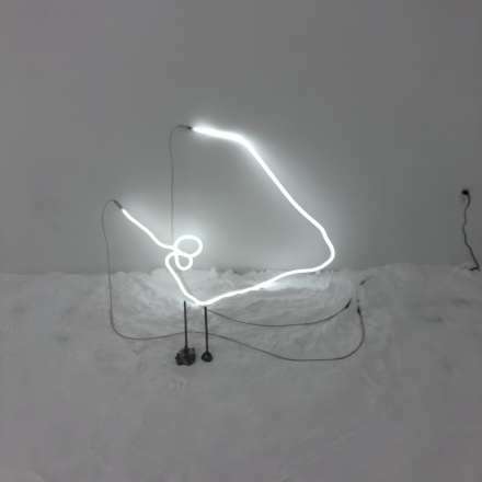 Saskia Noor van Imhof, #+40.00 (Installation View), via Art Observed