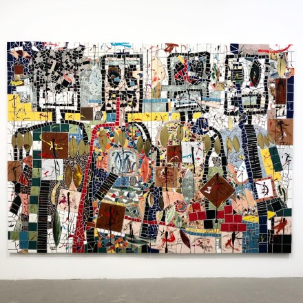 Rashid Johnson, The Hikers (Installation View), via Art Observed