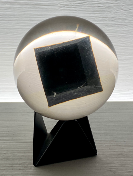 Enzo Mari, Resin Sphere for Danese Milano, Polyester resin, (1960). © Annie Schlecter.