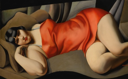 Tamara De Lempicka, La Tunique Rose (1927), final price $13,362,500, via Sothebys