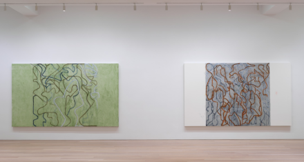 Brice Marden, It Reminds Me of Something, And I Don't Know What It Is (Installation View), via Gagosian