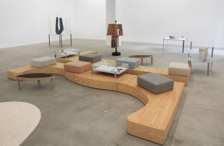 Janette Laverrière and Nairy Baghramian, Seating Platform Eyebrow (2009), via Marian Goodman