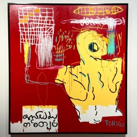 Jean-Michel Basquiat at Helly Nahmad, via Art Observed