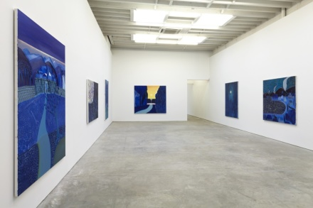 Matthew Wong, Blue (Installation View), via Karma