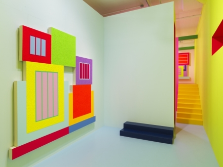 Peter Halley, Heterotopia II (Installation View), via Greene Naftali