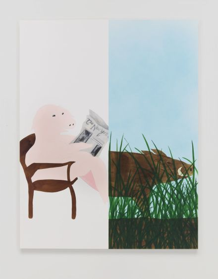 Calvin Marcus, City Pig/Wild Boar (2019), via David Kordansky