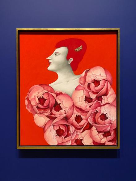 Nicolas Party, Portrait with Roses (2019)