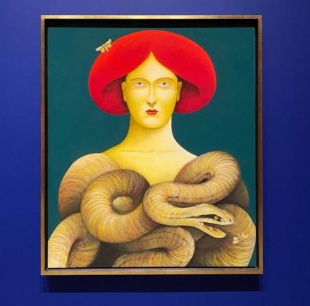 Nicolas Party, Portrait with Snakes (2019)
