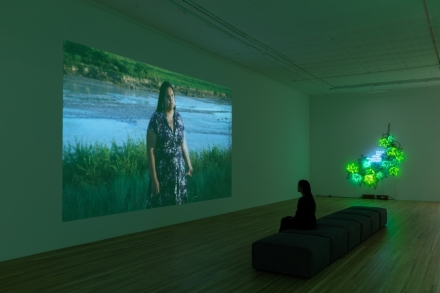 Andrea Bowers, Think of Our Future (Installation View), via Andrew Kreps