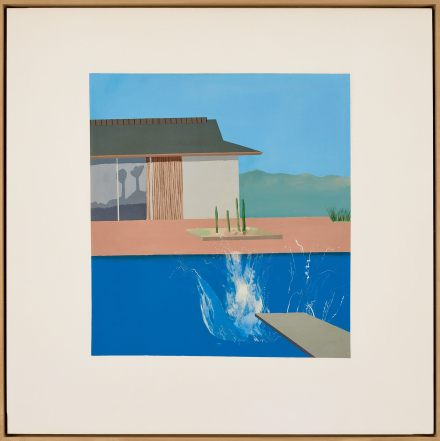 David Hockney, The Splash (1966), via Sotheby's
