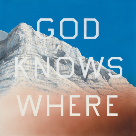 Ed Ruscha, God Knows Where (2014), via Phillips