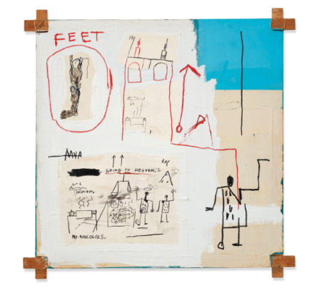 Jean-Michel Basquiat, The Mosque (1982), via Christie's