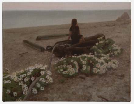 Matvey Levenstein, Beach flowers, (2020), via Kasmin