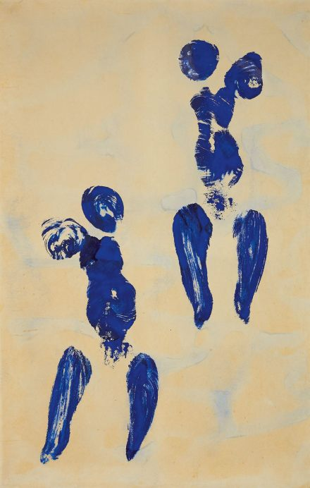 Yves Klein, Untitled Anthropometry (ANT 132) (1960), via Sotheby's
