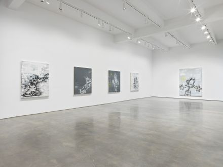 Gary Simmons, Screaming into the Ether (Installation View), via Metro Pictures