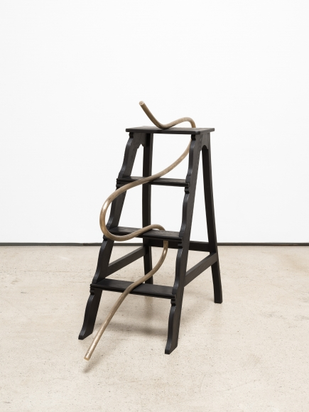 Ricky Swallow, Step Ladder with Cane (cursive) (2020), via David Kordansky