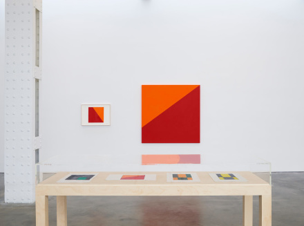 Carmen Herrera, Painting in Process (Installation View)