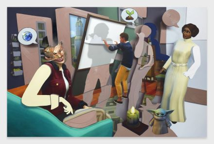 Pieter Schoolworth, Shifted Sims #9 (Eco Lifestyle) (2020), via Petzel