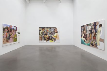 Pieter Schoolworth, Shifted Sims (Installation View), via Petzel