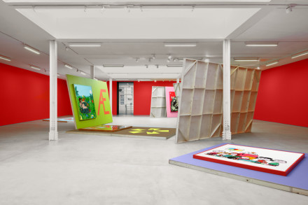 Alex Da Corte, Helter Shelter Or The Red Show! or... (Installation View), via Sadie Coles HQ