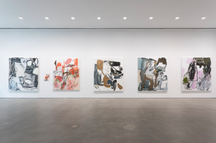 Amy Sillman, Twice Removed (Installation View), via Gladstone Gallery