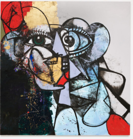 George Condo, End of Reason (2020), via Hauser & Wirth