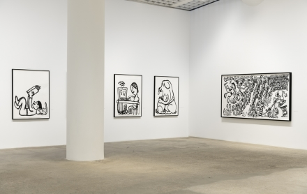 Paul Chan, Drawings for Word Book by Ludwig Wittgenstein (Installation View), via Greene Naftali