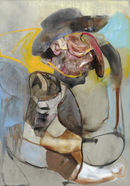 Adrian Ghenie, Gauguin with Cowboy Hat (2020), via Pace
