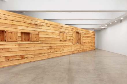 Haim Steinbach, Display #28 - Rustic Wall (1991), via Tanya Bonakdar