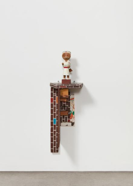 Haim Steinbach, Shelf with Nurse (1983), via Tanya Bonakdar