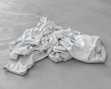 Charles Ray, Clothes Pile (2020), via Matthew Marks