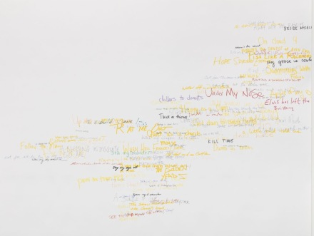 Roni Horn, Wits' End Mash (Elvis has left the building), v.1 (2019) via Hauser and Wirth