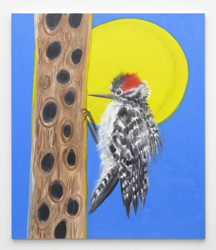 Ann Craven, Woodpecker (and the Moon), 2021, 2021, via Karma