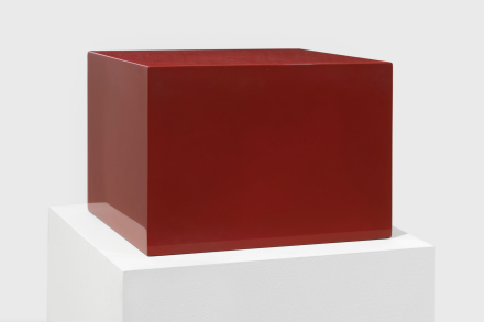 John McCracken, Untitled (Red Block) (1966), via David Zwirner