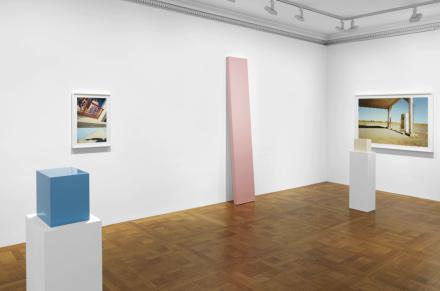 William Eggleston and John McCracken, True Stories (Installation View), via David Zwirner