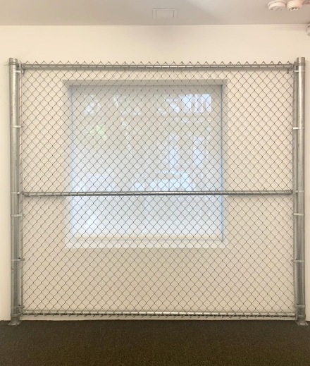 Cady Noland, The Clip-On Method (Installation View), via Art Observed